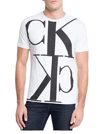 Calvin Klein Jeans Tshirt Mc Mirror Full Branco Tc855