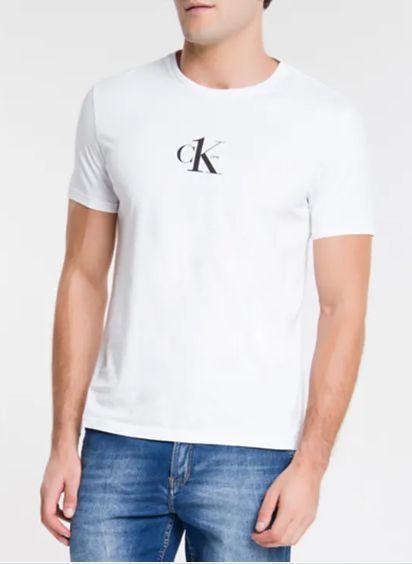 Calvin Klein Jeans Tshirt Mc Ck One Branco Tc020