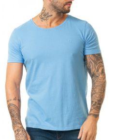 Docthos Tshirt Mc Slim Basic Azul Claro 623436946