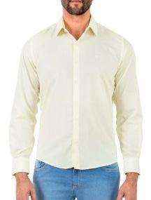 Docthos Camisa Ml Liso Easy Amarelo 605119064