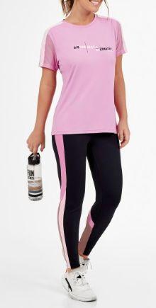 Alto Giro Tshirt Skin Fit Gola V Rosa 2011701