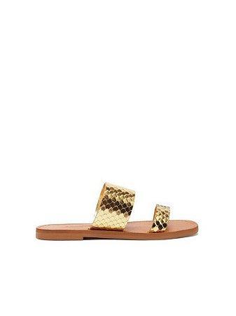 Schutz  Slide Tiras Bright Gold Snake S2088900030001