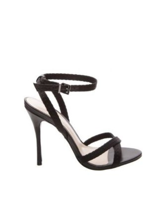 Schutz Sandália Slim Stiletto Black S0204202730003