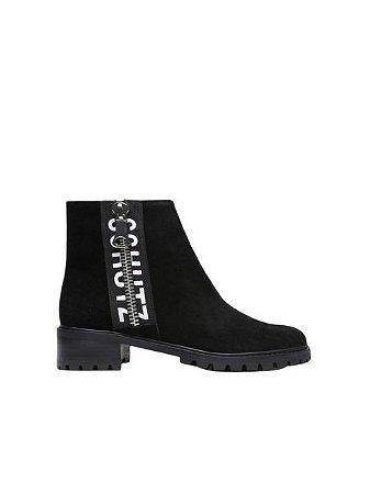 Schutz Ankle Boot Logo Suede Black S0426000840001