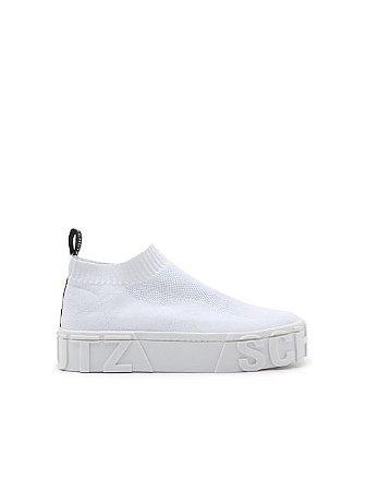 Schutz Sock Sneaker Knit White S2111700040003