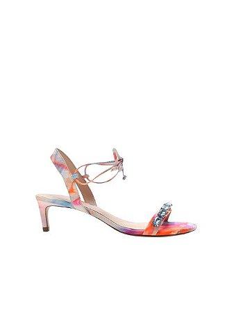 Schutz Sandália Mid Heel Glam Stones Tie-Dye S2088300020001