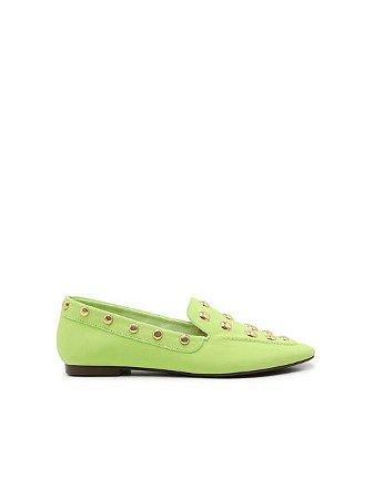 Schutz Loafer Maxistuds Suede Pop Green S2071001190001