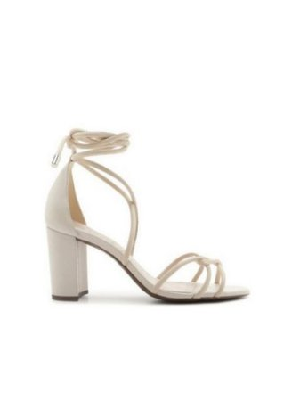 Schutz Sandália Strings Lace-Up White S2043801060001