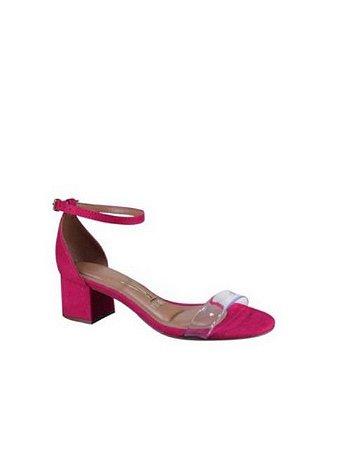 Vizzano Sandalia Salto Baixo Tira Vinil Pink 6291.979