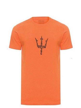 Osklen T-Shirt Vintage Tridente Orange 61182