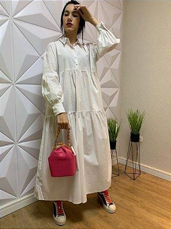 Tob Vestido Long Dress Ml Branco V1030