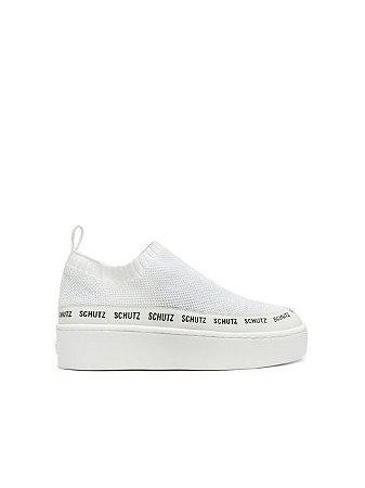 Schutz Sneaker Logomania Minimal Knit White S2114500030004