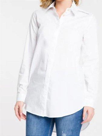 Calvin Klein Camisa Ml Fem Lisa Termocolante Branco TL542