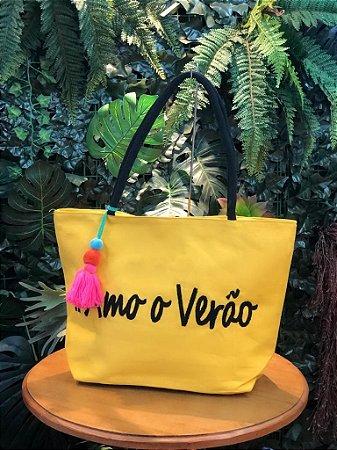 Bolsa #Amo o Verão Amarelo E003698