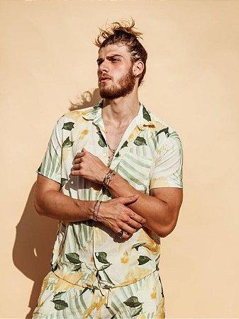 Osklen Camisa Linen Hibisco 59224