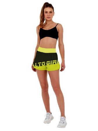 Alto Giro Short Fit Amarelo Neon 2031007