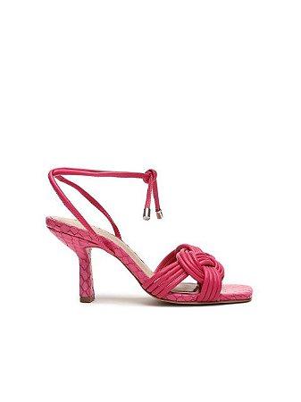 Schutz Sandália Salto Trança Pink S2093200390001