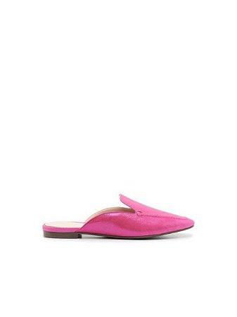 Schutz Flat Mule Glam Pink S2071000450013