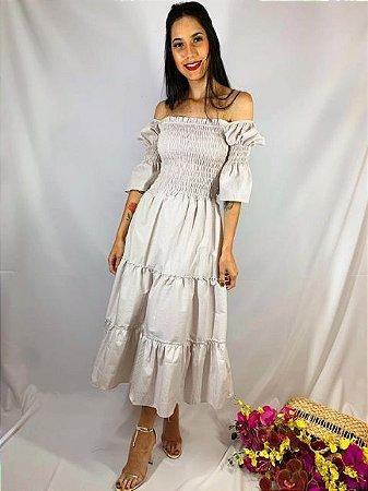 Vestido Midi Lastex Xadrez Cinza 14186