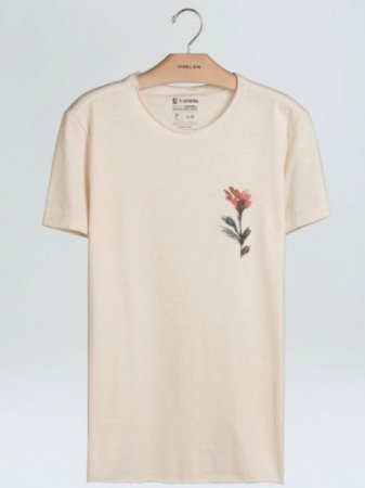 Osklen Camiseta Canhamo Brush Flower 62540