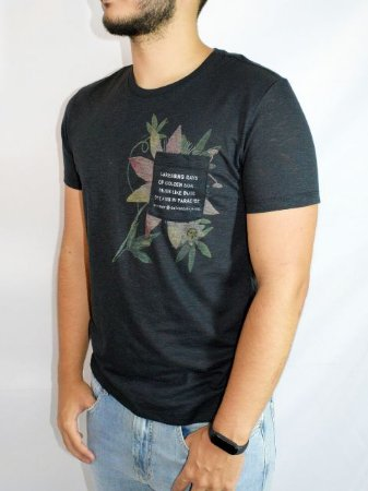 Calvin Klein Camiseta Regular Preto TC100