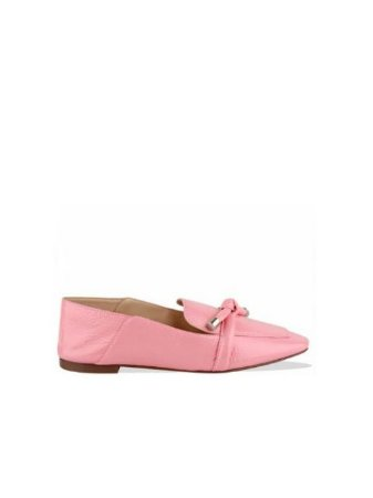 Schutz Loafer Knot Metallic Rose S2071001440004