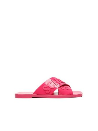 Schutz Flat Cross Jelly Pink S2114400010002