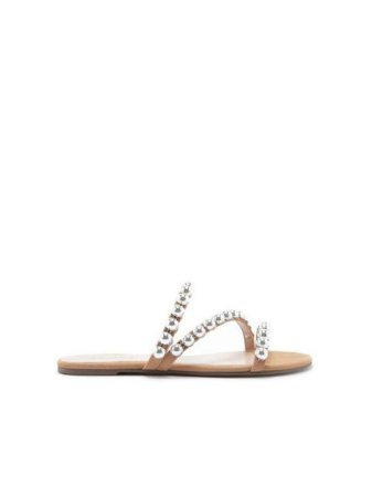 Schutz Slide Nobuck Studs Honey S2091500130002