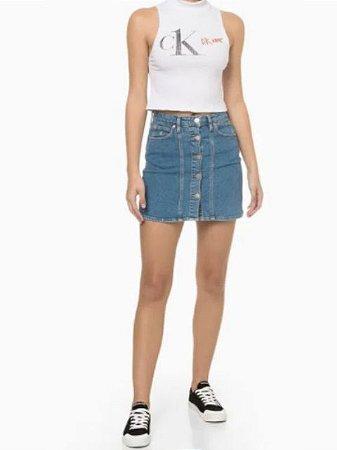 Calvin Klein Jeans Cropped Silk CK1 Branco BS847