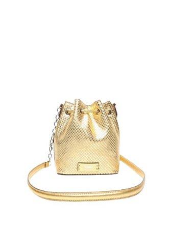 Schutz Bucket Bag Drop Snake Gold S5001142270002