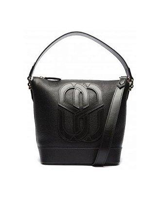 Schutz Bolsa Emblem Couro Black S5001142450005