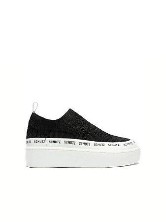Schutz Sneaker Logomania Minimal Knit Black S2114500030005