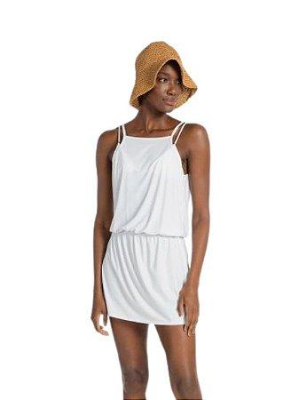 Live Beach Vestido Strappy Multi Essential Branco BC009