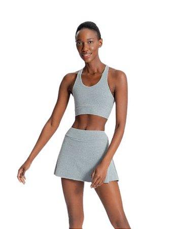 Live Fitness Saia com Shorts Sense Essential Mescla P0016