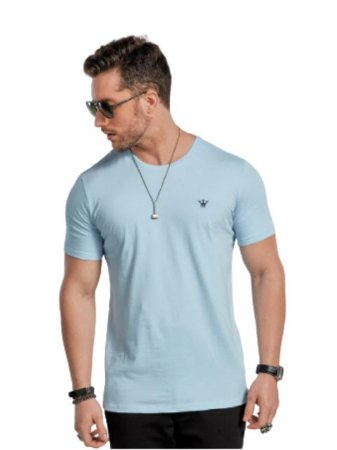 Docthos Camiseta Basic Slim Azul Serenity 623119082