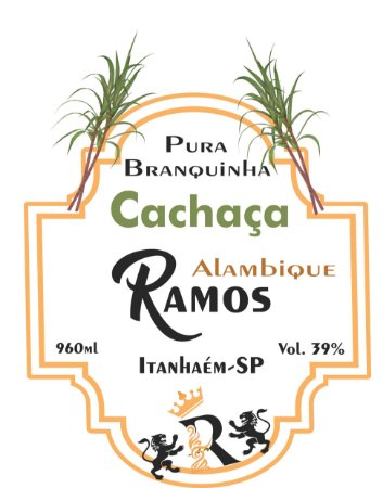 Cachaça RAMOS de Alambique - Pura - Branquinha 960ml