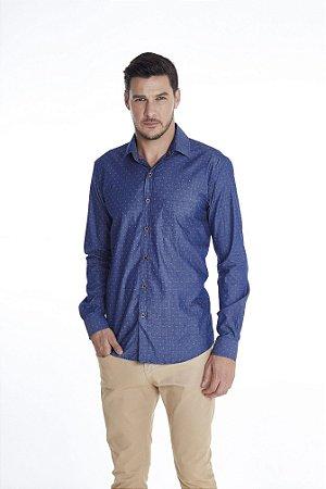 Camisa Slim Gravataria Manga Longa 602-20