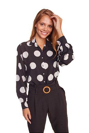 Camisa Feminina Poa Plus Size M/L  225-20