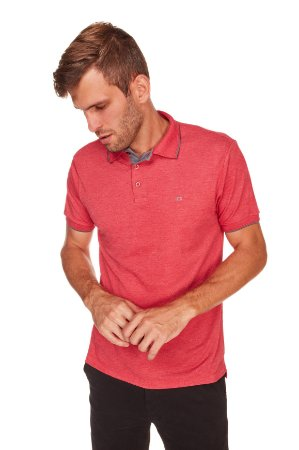 Camisa Polo Manga Curta Vermelha MLN0322