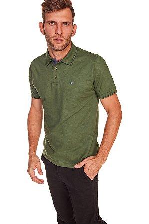Camisa Polo Manga Curta Verde MLN0322