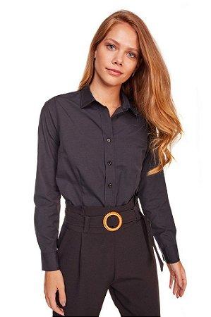 Camisa Feminina Lisa M/L Preta 3006-U