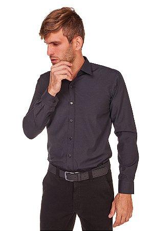 Camisa Masculina Algodão e Poliéster  M/L- Preta