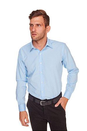 Camisa Masculina Algodão e Poliéster  M/L- Azul