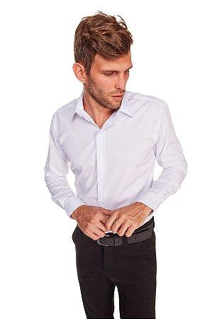 Camisasa Masculina Algodão Poliester e Elastano M/L Branca