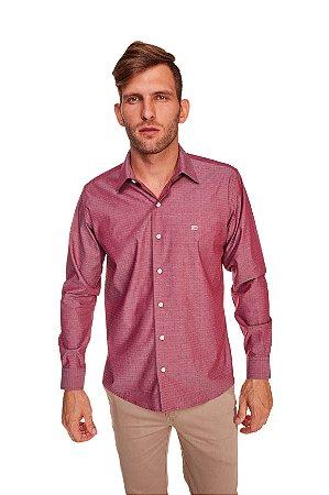 Camisa Casual Gravataria Manga Longa bordo 638-20