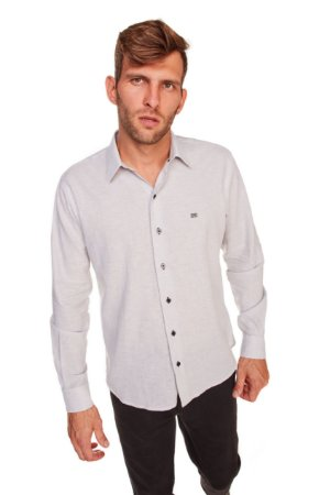 Camisa Confort Lisa Manga Longa 666-20