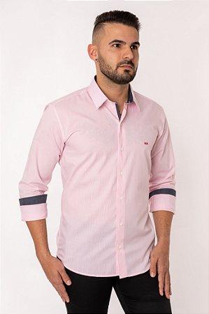 Camisa Slim Listra M/L 820-19