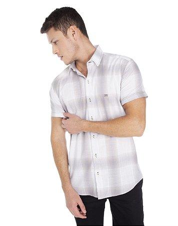 Camisa Slim Xadrez Manga Curta  502-21