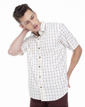 Camisa Confort Xadrez  Manga Curta 566-21