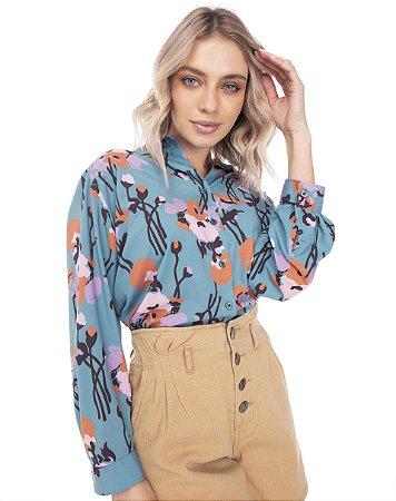 Camisa Flora 7/8  732-21